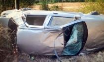 Cenazeye giden aile kaza yaptı: 1 ölü, 5 yaralı