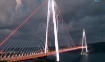 Yavuz Sultan Selim Köprüsünün ışıkları ilk kez yandı