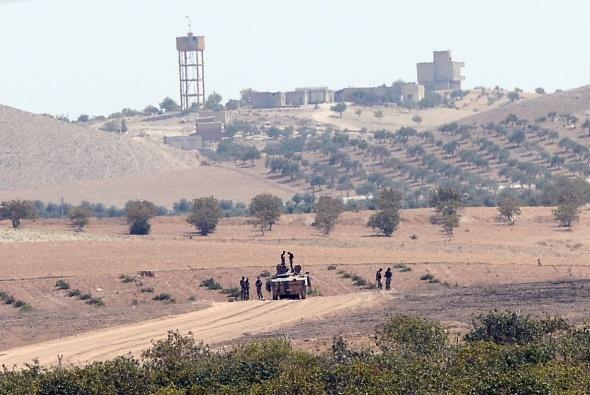 Cerablus'u temizleyen askeri konvoy yurda geri döndü