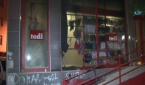 Sultangazide tekstil mağazasına molotoflu saldırı
