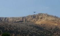 Çatışma bölgesinde helikopter hareketliliği