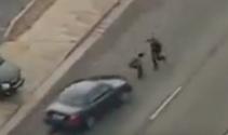 Soyguncuyu yakalayabilmek için polis arkadaşını da vurdu...