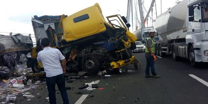 Yavuz Sultan Selim Köprüsü'nde kaza: 1 ölü