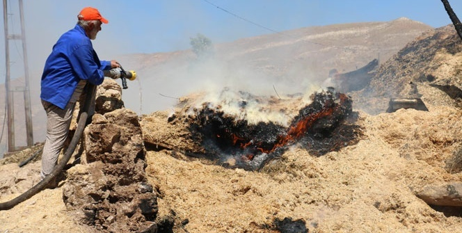 Köyde yangın: 3 ahır, 2 samanlık ve köy konağı kül oldu