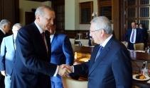 Cumhurbaşkanı Erdoğan Kulüpler Birliği Heyetini kabul etti
