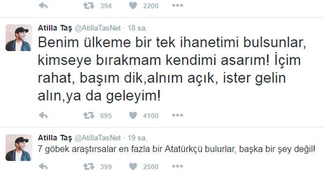 Gözaltına alınan şarkıcı Atilla Taşın son sözleri
