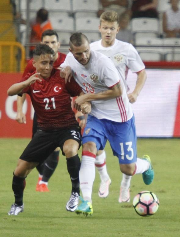 Türkiye Rusya maçından kareler