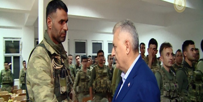 Başbakan Binali Yıldrırım'dan, operasyon bölgesine ziyaret