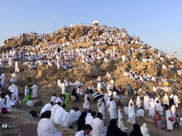Hacı adayları Arafat vakfesinde
