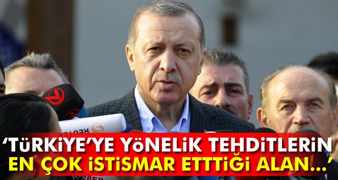 Cumhurbaşkanı Erdoğan: 'Türkiye'ye yönelik tehditlerin en çok istismar ettiği alan...'
