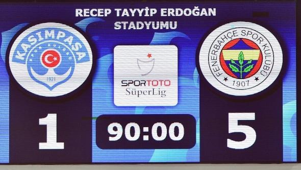 Kasımpaşa 1-5 Fenerbahçe