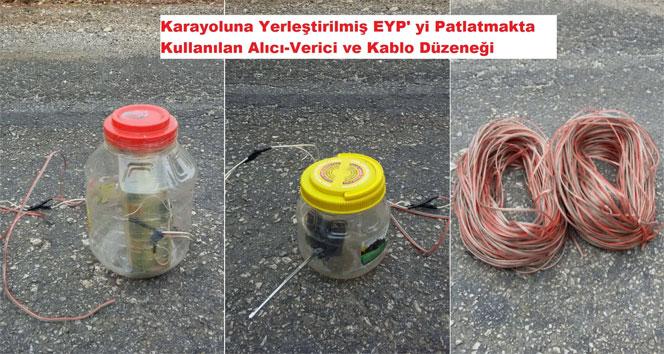 Diyarbakırda yola tuzaklanmış EYP ele geçirildi