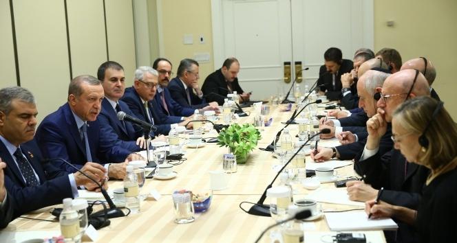 Cumhurbaşkanı Erdoğan, ABDdeki Yahudi kuruluşlarının temsilcileri ile görüştü
