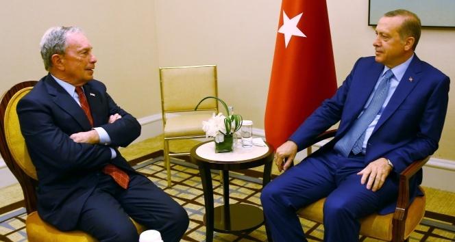 Cumhurbaşkanı Erdoğan, Michael Bloombergi kabul etti
