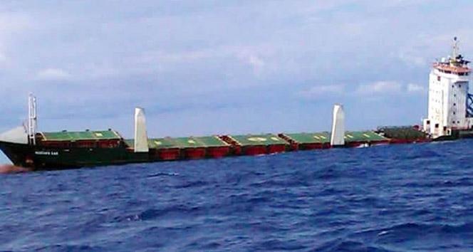 İstanbul merkezli şirketin kuruyük gemisi battı