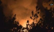 Tutkal fabrikasında büyük yangın
