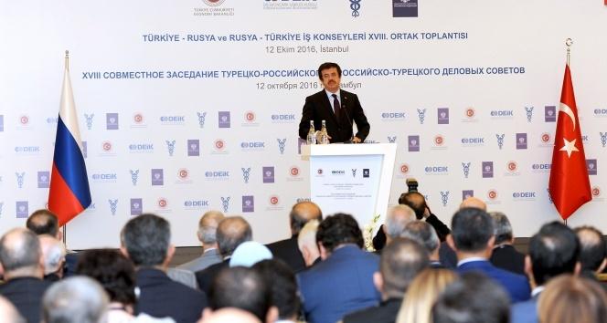 Bakan Zeybekci: Türkiye ile Rusyanın biraraya gelmesi bir artı bir; beş yapıyor