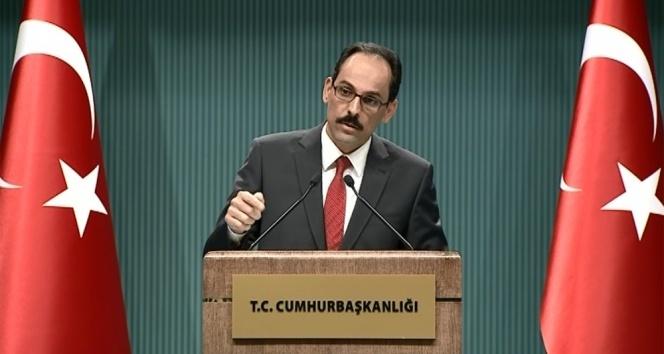 Kalın: CHP içinde hala PYD terör örgütü diyemeyenler var