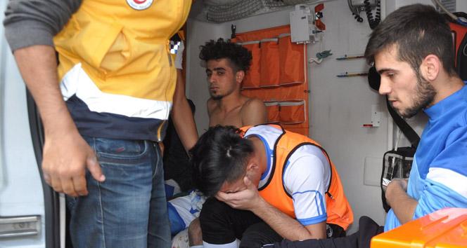 Maçta kavga: 5 futbolcu yaralandı