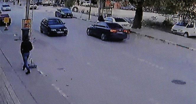 Kaza dehşeti kameraya böyle yansıdı!