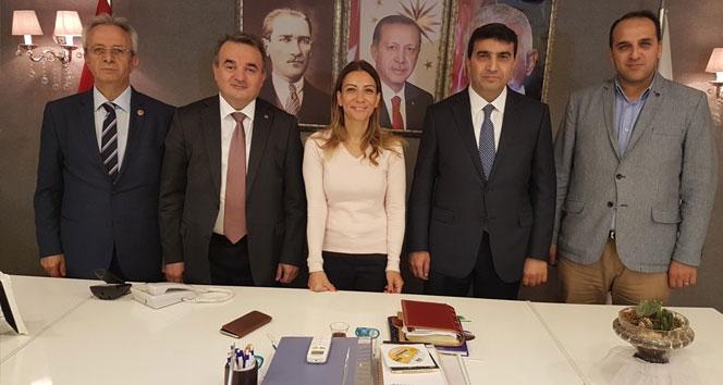 Kaymakam Öztürkten AK Partiye ziyaret