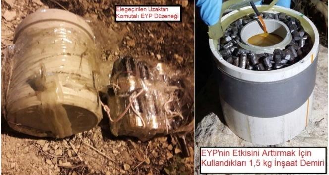 Teröristlerin patlayıcı tuzağı imha edildi