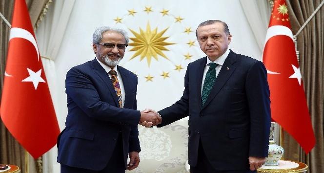 Cumhurbaşkanı Erdoğan, Kuveyt Büyükelçisi Alzawawi'yi kabul etti