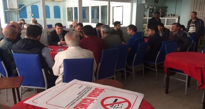 Elazığ'da tütünle mücadele toplantıları