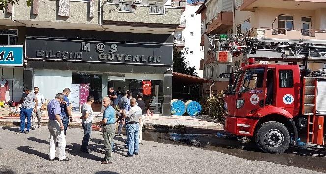 Manavgat'ta iş yeri yangını