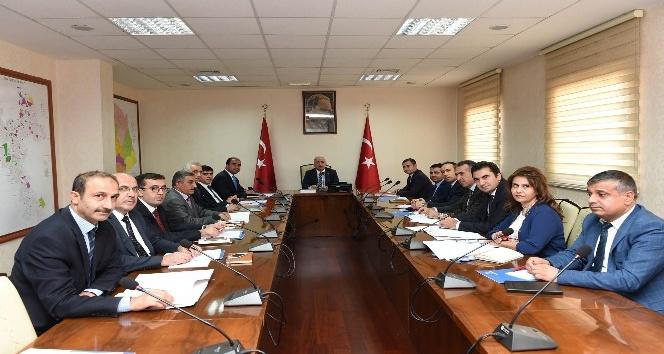 Vali Tuna cazibe merkezleri toplantısına başkanlık etti