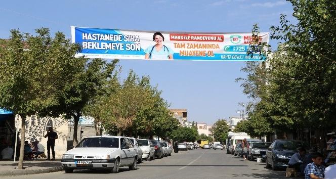 Kahta'da MHRS bilgilendirme afişleri asıldı