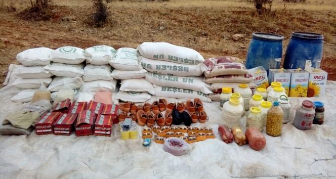 Siirtte PKKya ait gıda ve EYP malzemeleri ele geçirildi