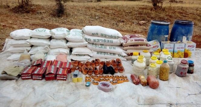 Siirt'te PKK'ya ait gıda ve EYP malzemeleri ele geçirildi