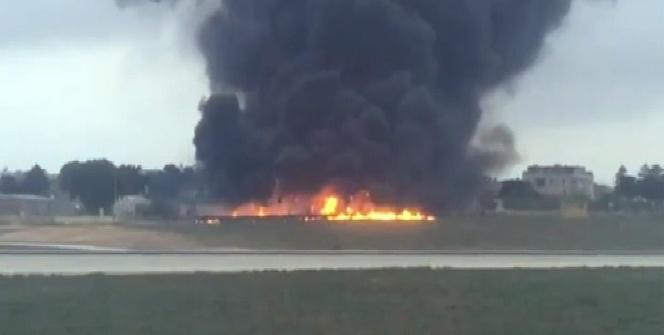 Malta'da uçak kazası: 5 ölü