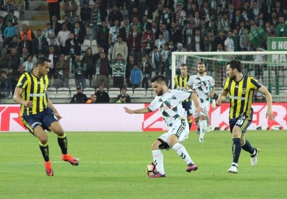 Atiker Konyaspor Fenerbahçe maçından kareler