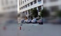 Antalyada patlama sonrası yaşanan panik kameralara yansıdı