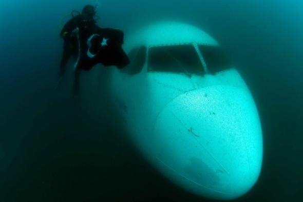 Batık Airbus A300 Kuşadası turizminin yeni ilgi noktası