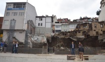 Otopark inşaatı alanında çökme