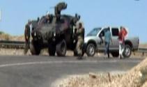 Bingölde askeri aracın geçişi sırasında patlama!