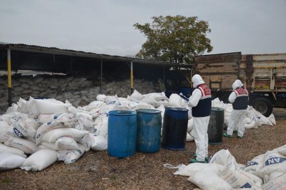 Diyarbakır'da bomba yapımında kullanılan 157 ton amonyum nitrat ele geçirildi