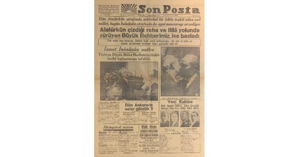 İşte 11 Kasım 1938'in gazete manşetleri
