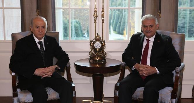 Başbakan Yıldırım-Bahçeli görüşmesi başladı