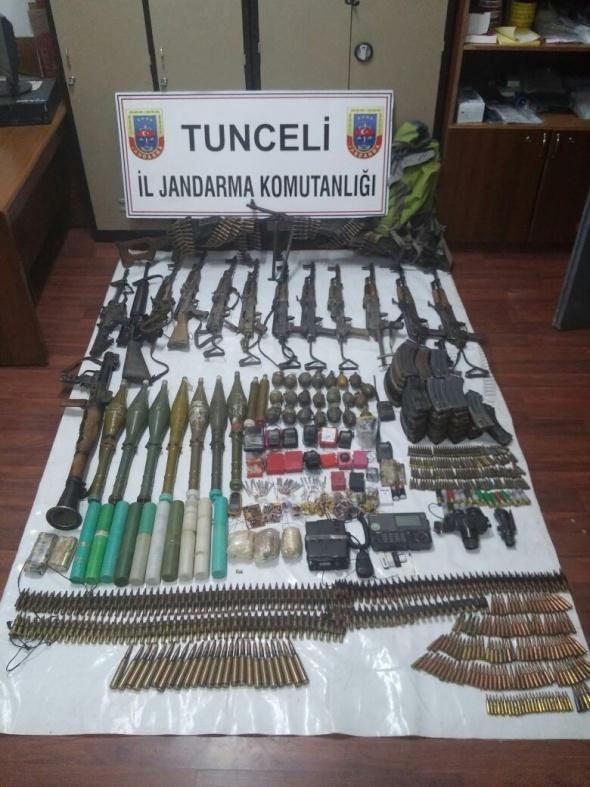 Tunceli'de PKK'lı hainlere büyük darbe