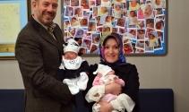 Hayata sıkı sıkı tutunan prematüre ikizler