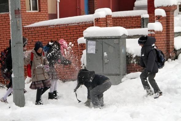 Ardahan'da kar yağışı sonrası kartpostallık görüntüler