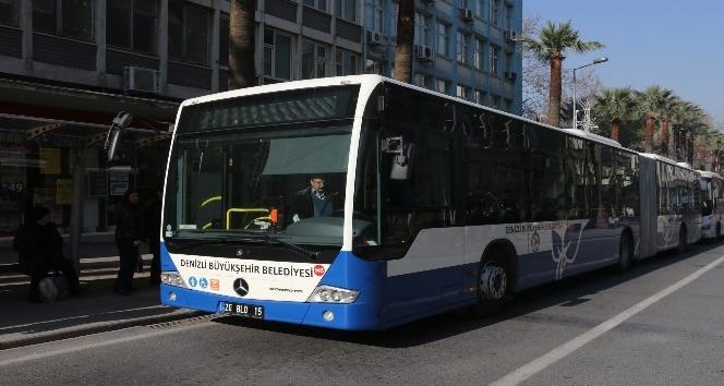 Denizli'de KPSS'ye gireceklere otobüsler ücretsiz