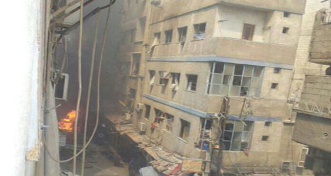 Halepte hastanelerde hizmet verilemiyor