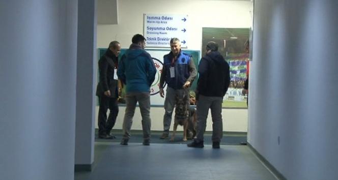 Fenerbahçenin soyunma odasına bomba araması