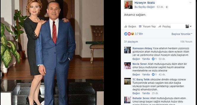 Başkan Sözlünün arkasını eşi kolluyor