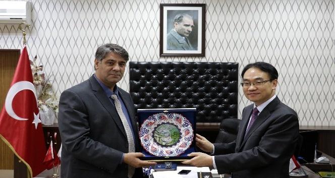 Kore Cumhuriyeti Müsteşarı'ndan Rektör Prof. Dr. Polat'a ziyaret